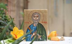 St Andrew the first called-byzantine religious icon by angelicon