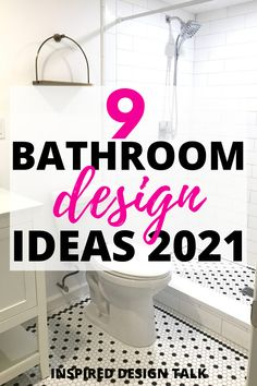 Perfect bathroom design inspiration for my bathroom remodel.