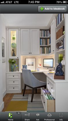 Office area in craft room