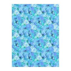 #pretty - #Blue Digital Daisies Fleece Blanket