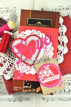 Love Candy Bar Wrapper and Gift Tag by Dawn McVey for Papertrey Ink (December 2013)