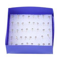 20pcs Rhinestone Embellished Women Stud Earrings #shoes, #jewelry, #women, #men, #hats, #watches, #belts