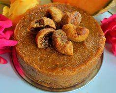 raw fig&cantaloupe mini cake  #raw #vegan #cake #recipe