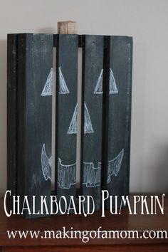 CHALKBOARD PUMPKIN - easy craft tutorial.