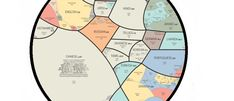 This map shows the evolution of the most popular - and most learned - languages.