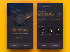 Time Tracking by buatoom | via Dribble