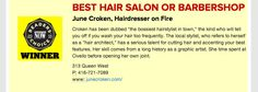 Absolute thrilling throwback of 2015! Happy hairdresser is me to be nominated a 2nd lucky year in a row by you generous beauties, voting closes next Friday so show your love and shares for your hairdresser on fire here if you please: http://readerschoice.nowtoronto.com/l/NOW-Readers-Choice-2016/Ballot/ShoppingampServices www.junecroken.com