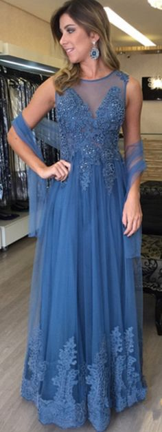 Sleeveess Lace Prom Dress,A-Line Prom Dresses,Evening Dress