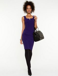 Le Chateau Deep Purple Dress - Great for work and fun Purple Dress, Deep Purple, Autumn Winter Fashion, Dresses For Work, Shopping, Style, Fun, Gowns, Swag