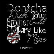 Baseball sister rhinestone hot fix iron on by LaLaBoutiqueBling