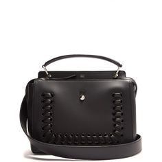 This is a black decorative detachable shoulder leather weekend handle  modern italian strap calf work bag from Fendi 088c0c557f374