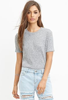 Ribbed Knit Tee | Forever 21 - 2000178710