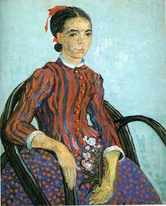La mousme, 1888, Vincent van Gogh Size: 23x60.5 cm Medium: oil on canvas