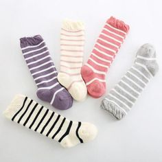 12711cabf Fancy striped Newborn Toddler knee high sock Baby Boy Kids Girl Socks anti  slip cotton leg warmers For boys girls R2 16H-in Socks from Mother   Kids  on ...