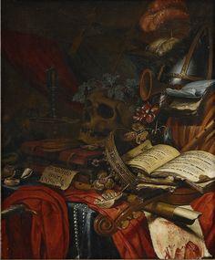 Vincent Laurensz van der Vinne, Still Life—Memento Mori, 17th century