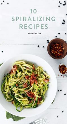Spiralizer Recipes such as Cacio e Pepe Zoodle Recipes, Spiralizer Recipes, Vegetable Recipes, Vegetarian Recipes, Healthy Recipes, Vegetable Spiralizer, Healthy Cooking, Healthy Eating, Cooking Recipes