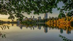 Fall in Vancouver, view from Lost Lagoon.