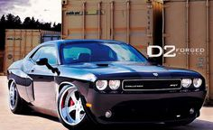 "Challenger SRT-8 Custom Widebody   D2FORGED VS3  20x10.5"" - 4.0"" Lip  20x13"" - 6.0"" lip   Metallic Silver Center   Chrome Lip Finish     nice Challengerman3navyu30 photo found on the web"