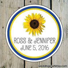 Single+Sunflower++Floral+Flowers++Round+Custom+by+weddingsnwhimsy