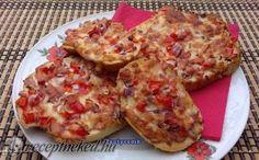 Gyors melegszendvics recept fotóval Cauliflower, Hamburger, French Toast, Food And Drink, Pizza, Lunch, Cheese, Vegetables, Breakfast