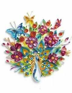 Colourful quilling art