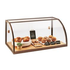 Shop Cal-Mil 3611 Arched Sliding Door Vintage Bakery Display Case with Wood Base - 36 inch x 19 inch x 17 inch. Unbeatable prices and exceptional customer service from WebstaurantStore. Bakery Display Case, Pastry Display, Display Cases, Bread Display, Coffee Shop Design, Cafe Design, Coffee Shop Bar, Rustic Coffee Shop, Bakery Shop Design