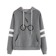 Minetom Womens Autumnn Fashion Long Sleeve Pullover Harry Potter Glasses Prints Hoodies Hooded Sweatshirt Sweater Tops Gray US 8 >>> You can find out more details at the link of the image. (This is an affiliate link) Harry Potter Pulli, Mode Harry Potter, Harry Potter Outfits, Sweat Shirt, Hoodie Sweatshirts, Hoodies, Pullover Mode, Winter Mode, Cartoon Outfits