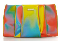 NYE style tip: Add a pop to your party look tonight with punchy accessories, like this psychedelic bag from Kate Spade.
