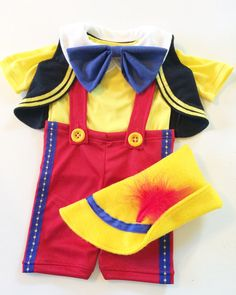 Pinocchio Costume Dress-Up Birthday Outfit by ElizabethAnnHandmade