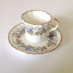 Vintage Teacup and Saucer Royal Windsor by VintageTeacupShop