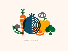 Simple Eats: ___ by Jordan Wilson Graphisches Design, Icon Design, Logo Design, Print Design, Food Branding, Graphic Design Typography, Graphic Design Illustration, Illustration Styles, Vegetable Design