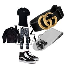 Designer Clothes, Shoes & Bags for Women Hip Hop Fashion, Tomboy Fashion, Men's Fashion, Black Outfits, Cool Outfits, Androgynous Style, Blue Nike, Swag, Outfit Ideas