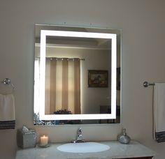 Bathroom Vanity And Mirror hilton hotel project bathroom mirror with 3000/6000k led light