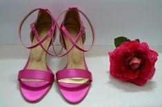 Cyklaménové svadobné sandálky s úpravami podľa želania klientky. K-styl. Ružové sandálky, Tmavoružové sandálky, Navhrni si aj ty topánky podla seba. Heels, Fashion, Moda, La Mode, Shoes High Heels, Fasion, Fashion Models, Heel, Trendy Fashion