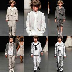 Varias ideas de trajes para niño de Primera Comunión.