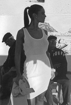 Monica Bellucci modeling in Italy, 90s.