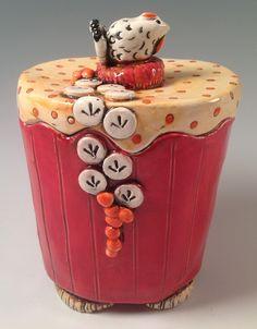 Ceramic Boxes, Pottery Clay, Lisa, Jar, Ceramics, Mugs, Home Decor, Ceramica, Pottery