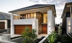 narrow block 30 ft house designs with courtyard - Google Search