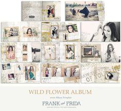 Wouldn't this be a killer Senior Album? (c: Frank & Frida on Etsy Wedding Album Layout, Wedding Album Design, Album Photo, Photo Craft, Wild Flowers, Photo Books, Templates, Layouts, Truffle Shuffle