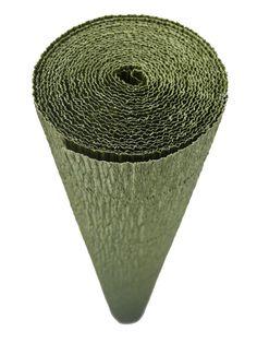 Italian Crepe Paper roll 180 gram - 17A/8 OLIVE GREEN BY TIFFANIE TURNER