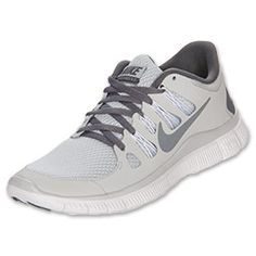Women's Nike Free 5.0+ Running Shoes | FinishLine.com | Pure Platinum/Cool Grey/White