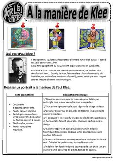 Paul Klee - Portraits – Ce1 - Ce2 – Cm1 – Cm2 – Arts visuels – Cycle 3