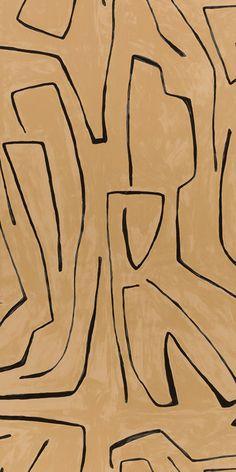 KELLY WEARSTLER | GRAFFITO WALLPAPER. In Sand/Black