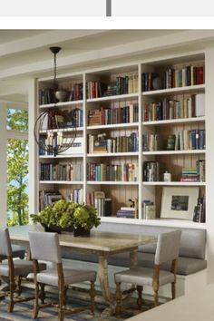 Built ins and bookshelves