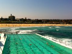 Bondi Icebergs pool. My dad was an Iceberg and threw me in this pool (deep at both ends) and said 'swim' - needless to say I learnt pretty fast!