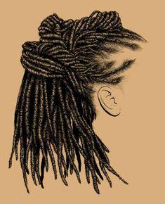 how to draw afro hair Black Girl Art, Black Women Art, Black Art, Art Girl, Natural Hair Art, Texturizer On Natural Hair, Natural Hair Styles, How To Draw Braids, How To Draw Hair