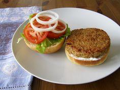 Vegan Gardenburger Copycat  (sub quinoa for the bulgar wheat it calls for)