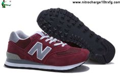 Fashion New Balance NB ML574BGD wine Red Grey White For Men shoes Shoes Store