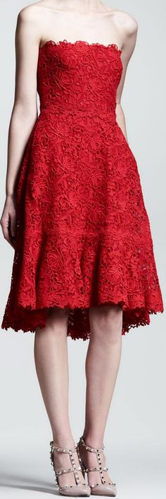 A deluxe red dress by Valentino - you can never be overdressed for a Valentine's Day picnic!