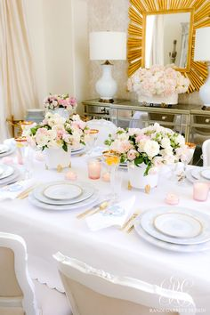 mother's day table #flowers #roses #floralarrangement #rosesarrangement #traderjoes #tjlist #traderjoesflowers #easyfloralarrangement #tablescape #valentinesdinner #easyvalentinesparty #galentinesday #galentines #tablesetting